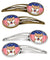 Buy this American Flag and Shiba Inu Set of 4 Barrettes Hair Clips BB2155HCS4
