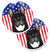 American Flag and French Bulldog Set of 2 Cup Holder Car Coasters BB2157CARC by Caroline's Treasures