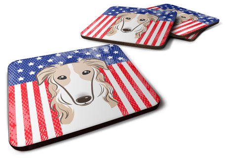 Buy this American Flag and Borzoi Foam Coaster Set of 4