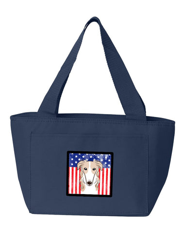 Buy this American Flag and Borzoi Lunch Bag BB2158NA-8808