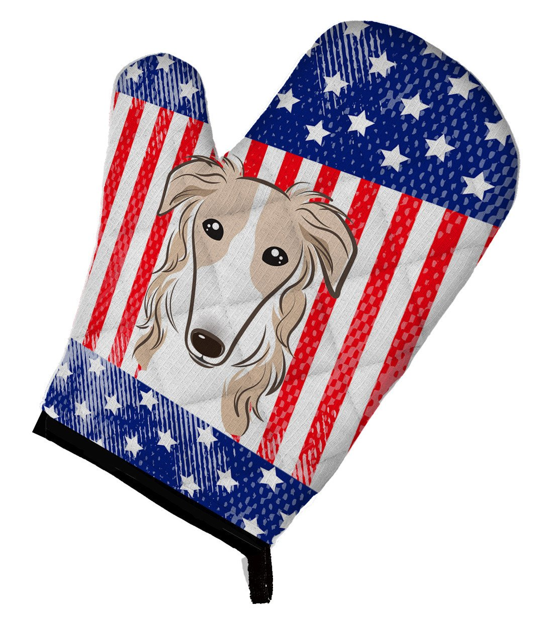 American Flag and Borzoi Oven Mitt BB2158OVMT by Caroline's Treasures