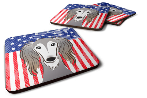 Buy this American Flag and Saluki Foam Coaster Set of 4
