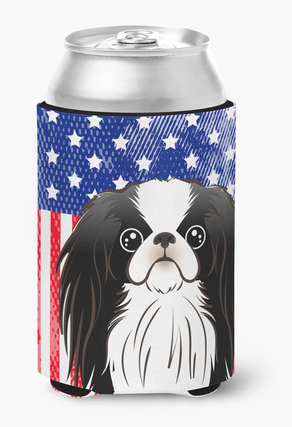 American Flag and Japanese Chin Can or Bottle Hugger BB2160CC by Caroline's Treasures