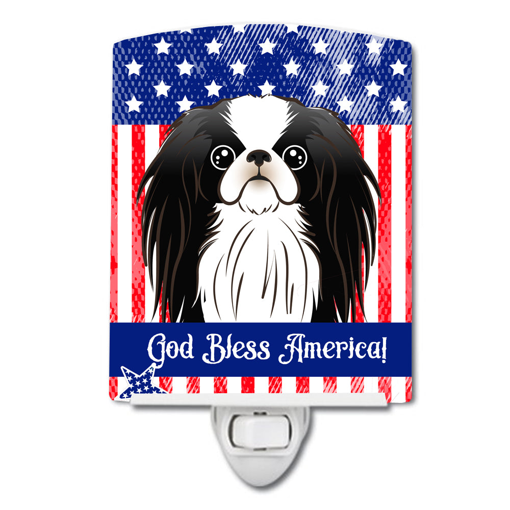 American Flag and Japanese Chin Ceramic Night Light BB2160CNL by Caroline's Treasures