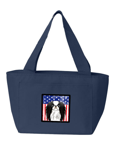Buy this American Flag and Japanese Chin Lunch Bag BB2160NA-8808