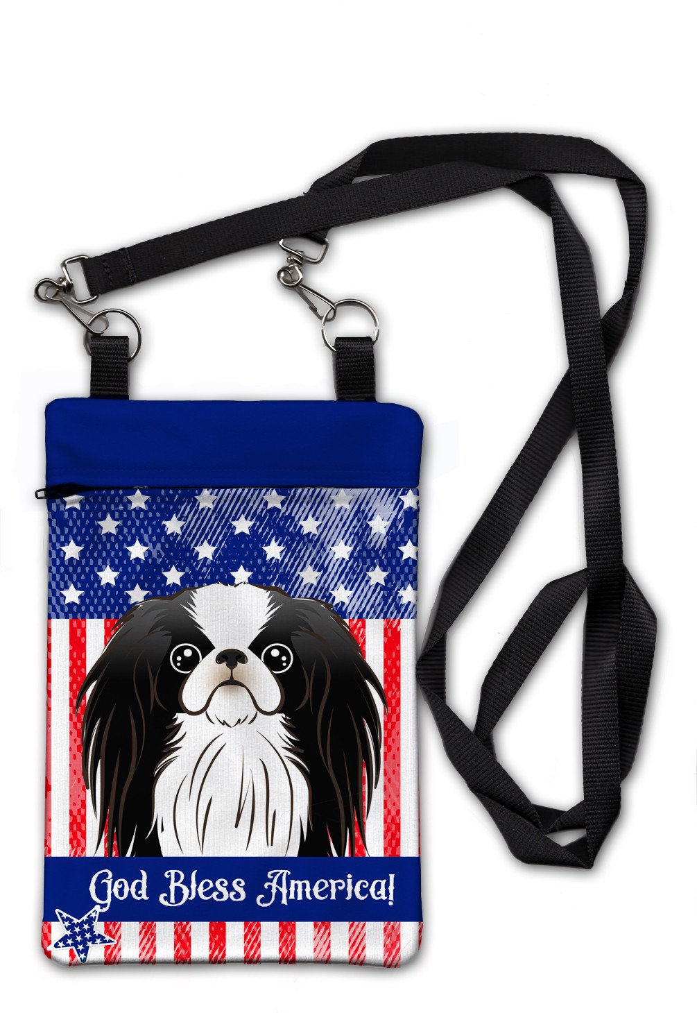 American Flag and Japanese Chin Crossbody Bag Purse BB2160OBDY by Caroline's Treasures