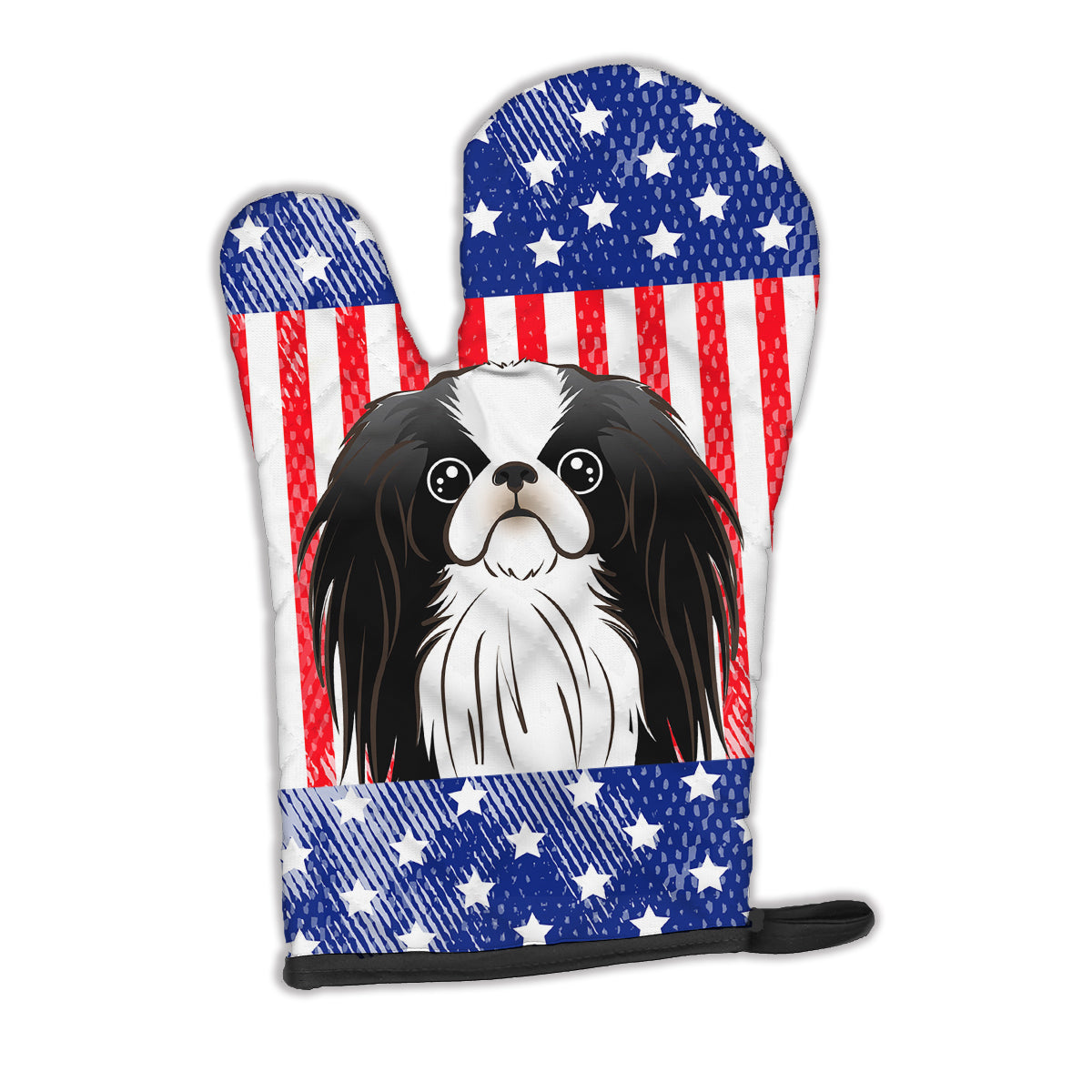 American Flag and Japanese Chin Oven Mitt BB2160OVMT by Caroline's Treasures