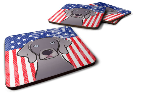 Buy this American Flag and Weimaraner Foam Coaster Set of 4