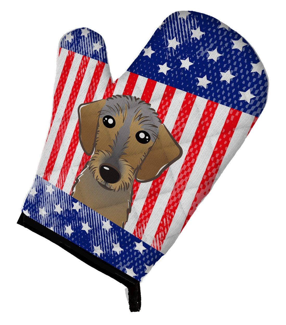 American Flag and Wirehaired Dachshund Oven Mitt BB2163OVMT by Caroline's Treasures