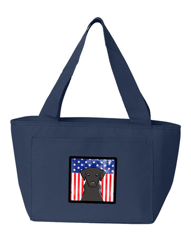 Buy this American Flag and Black Labrador Lunch Bag BB2165NA-8808