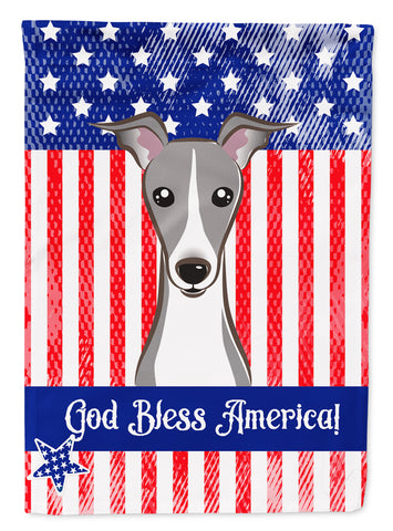Buy this God Bless American Flag with Italian Greyhound Flag Canvas House Size BB2166CHF