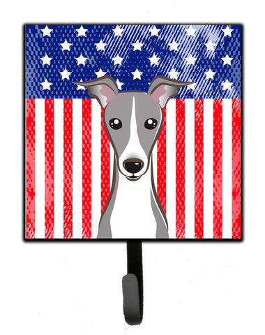 Buy this American Flag and Italian Greyhound Leash or Key Holder BB2166SH4
