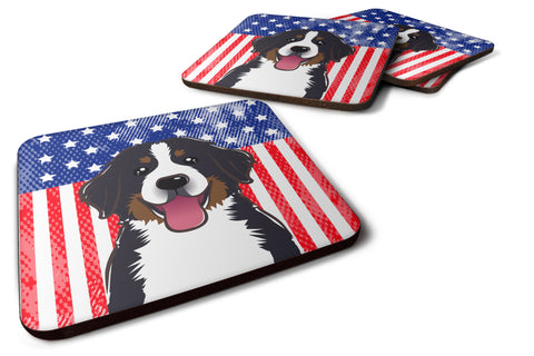 Buy this American Flag and Bernese Mountain Dog Foam Coaster Set of 4