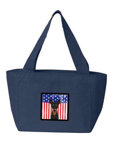 Buy this American Flag and Min Pin Lunch Bag BB2170NA-8808