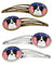 American Flag and Border Collie Set of 4 Barrettes Hair Clips BB2171HCS4 by Caroline's Treasures