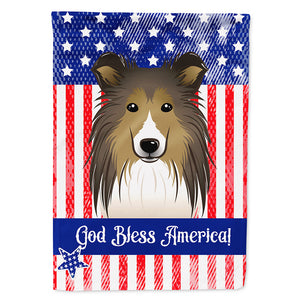 Buy this God Bless American Flag with Sheltie Flag Canvas House Size