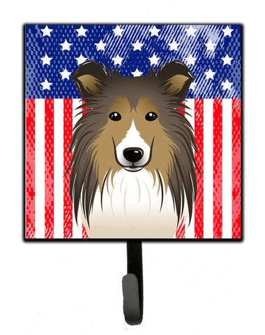 Buy this American Flag and Sheltie Leash or Key Holder BB2172SH4