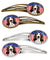 Buy this American Flag and Basset Hound Set of 4 Barrettes Hair Clips BB2173HCS4