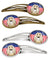 Buy this American Flag and Afghan Hound Set of 4 Barrettes Hair Clips BB2174HCS4