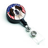 American Flag and Saint Bernard Retractable Badge Reel BB2176BR by Caroline's Treasures