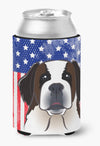 American Flag and Saint Bernard Can or Bottle Hugger BB2176CC by Caroline's Treasures