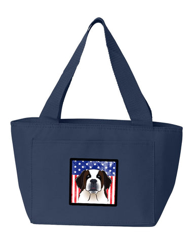 Buy this American Flag and Saint Bernard Lunch Bag BB2176NA-8808