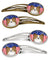 Buy this American Flag and Papillon Set of 4 Barrettes Hair Clips BB2178HCS4
