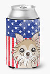 American Flag and Chihuahua Can or Bottle Hugger BB2181CC by Caroline's Treasures