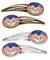 Buy this American Flag and Chihuahua Set of 4 Barrettes Hair Clips BB2181HCS4
