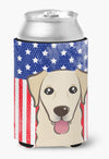 Buy this American Flag and Golden Retriever Can or Bottle Hugger BB2182CC