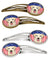 American Flag and Golden Retriever Set of 4 Barrettes Hair Clips BB2182HCS4 by Caroline's Treasures