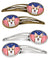 American Flag and Sable Corgi Set of 4 Barrettes Hair Clips BB2183HCS4 by Caroline's Treasures