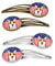 American Flag and Red Corgi Set of 4 Barrettes Hair Clips BB2184HCS4 by Caroline's Treasures