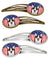 American Flag and Tricolor Corgi Set of 4 Barrettes Hair Clips BB2185HCS4 by Caroline's Treasures