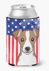 Buy this American Flag and Jack Russell Terrier Can or Bottle Hugger BB2190CC