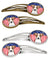 Buy this American Flag and Jack Russell Terrier Set of 4 Barrettes Hair Clips BB2190HCS4
