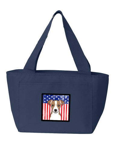 Buy this American Flag and Jack Russell Terrier Lunch Bag BB2190NA-8808