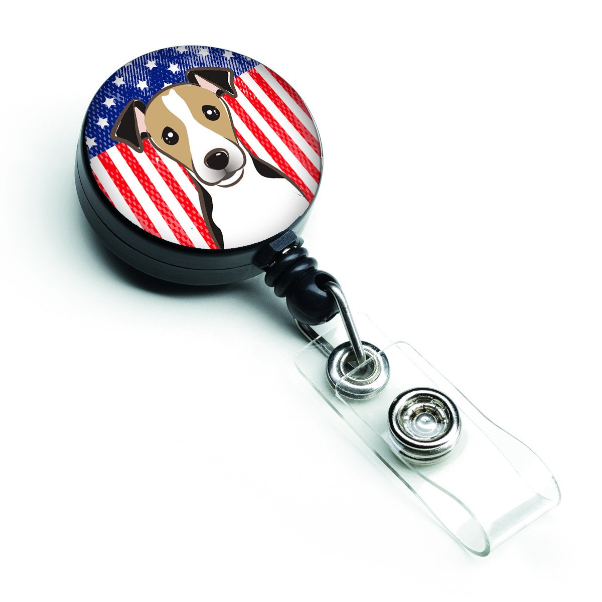 American Flag and Jack Russell Terrier Retractable Badge Reel BB2191BR by Caroline's Treasures