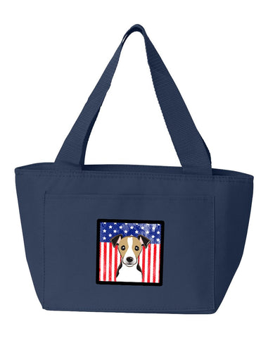 Buy this American Flag and Jack Russell Terrier Lunch Bag BB2191NA-8808