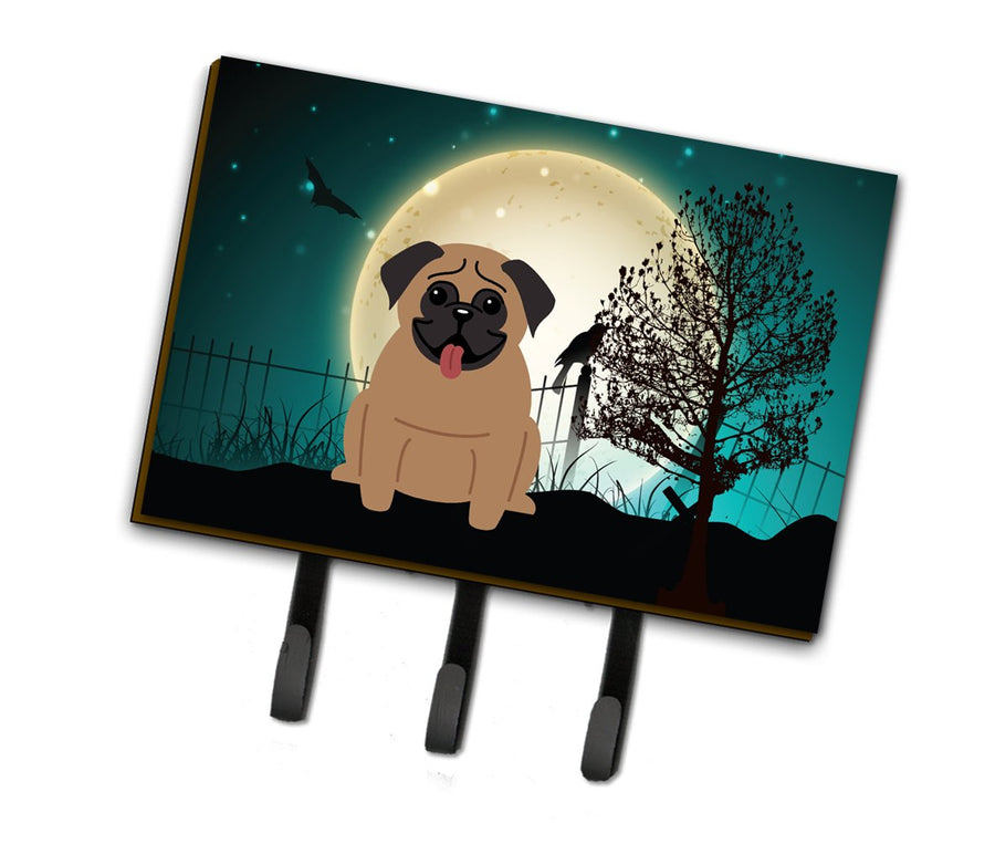 Buy this Halloween Scary Pug Brown Leash or Key Holder BB2195TH68