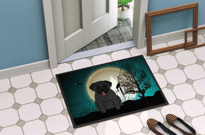 Halloween Scary Pug Black Indoor or Outdoor Mat 24x36 BB2196JMAT