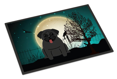 Buy this Halloween Scary Pug Black Indoor or Outdoor Mat 24x36 BB2196JMAT