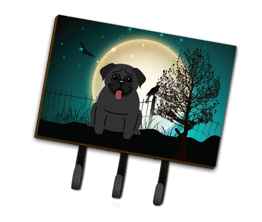 Buy this Halloween Scary Pug Black Leash or Key Holder BB2196TH68