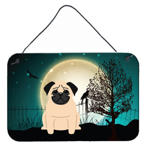 Buy this Halloween Scary Pug Fawn Wall or Door Hanging Prints BB2198DS812
