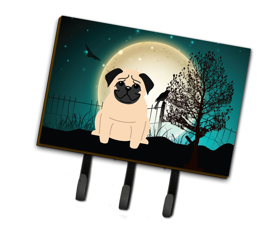 Buy this Halloween Scary Pug Fawn Leash or Key Holder BB2198TH68