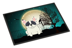 Buy this Halloween Scary French Bulldog Piebald Indoor or Outdoor Mat 24x36 BB2201JMAT