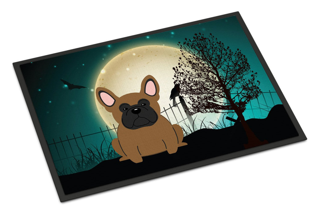 Buy this Halloween Scary French Bulldog Brown Indoor or Outdoor Mat 18x27 BB2203MAT