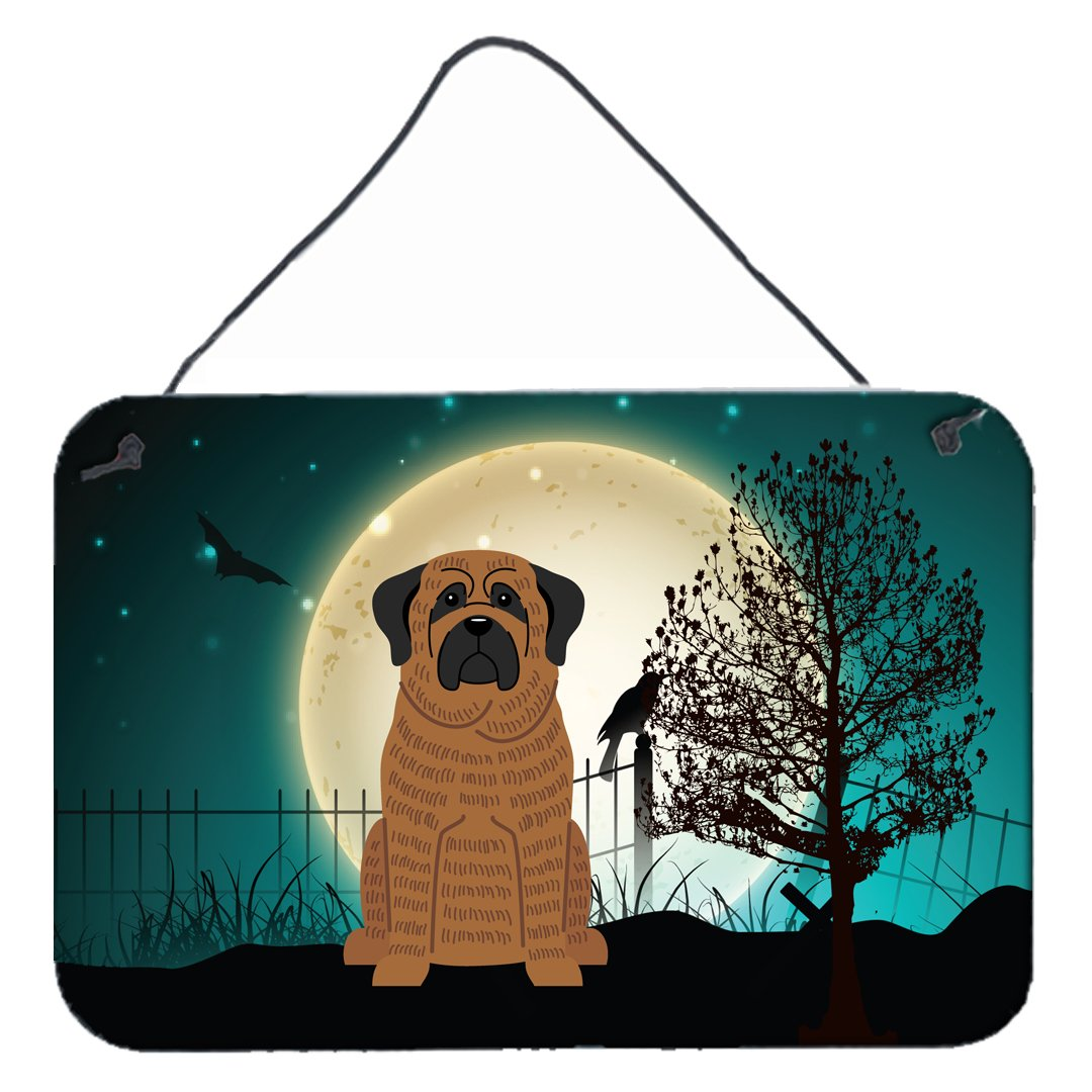Halloween Scary Mastiff Brindle Wall or Door Hanging Prints BB2205DS812 by Caroline's Treasures