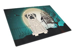 Buy this Halloween Scary Mastiff Brindle White Glass Cutting Board Large BB2206LCB