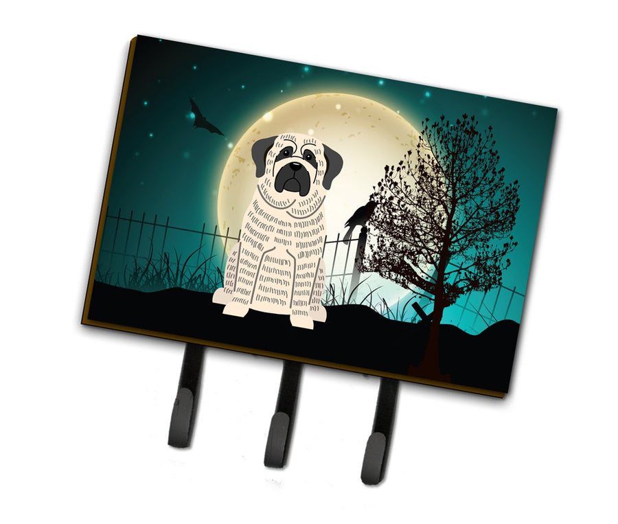 Buy this Halloween Scary Mastiff Brindle White Leash or Key Holder BB2206TH68